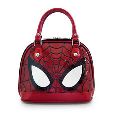 Marvel Comic Spiderman Eyes Faux Patent Leather Mini Dome Bag by Loungefly