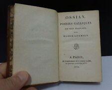 OSSIAN, POÉSIES GALLIQUES EN VERS FRANÇAIS, AN IX (1801)
