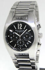 Bvlgari Ergon Chronograph Stainless Steel Automatic Mens Watch Bulgari EG40SCH