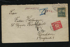 Czechoslovakia  cover to England  postage  due  1934       SS0425