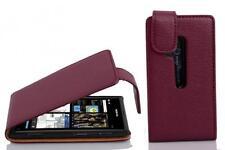Schutz hülle Flip für Nokia Lumia 800 wallet case handy tasche in lila