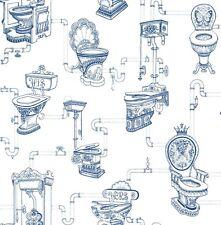 Vliestapete Graham & Brown Modern Living Vintage Nostalgisch weiß blau 50-635 (4