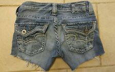 THE BUCKLE ~ Womens BIG STAR ~JEAN cut off shorts *ultra low rise Sz 25