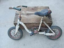 Rare Antique Kids Child Bicycle Troxel Goodyear Tires Vintage Circus Bike Hecker