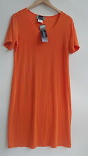 Slinky Brand Short Sleeves Orange Women's Dresses Size-M-Ne- (made in USA)