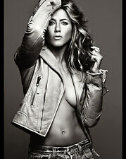 JENNIFER ANISTON 8X10 PHOTO PICTURE PIC HOT SEXY BOOBS NO BRA IN LEATHER 11