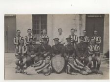 Military Football Team WW1 R.A. North 1916/17 RP Postcard 211b