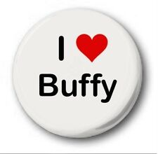 "I Love Buffy 25mm 1"" Button Badge - Heart Vampire Slayer Sarah Michelle Gellar"