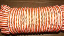 "NEW 1/2"" (12.7mm) x 50' 16-Strand Braided Line, Arborist Climbing Rope"