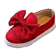 Cute Toddler Kids Girls Loafers Child Slip On Soft Faux Suede Flat Casual Shoes