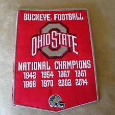 "7"" THE OHIO STATE BUCKEYES National Football Champions Iron-on Banner PATCH!"