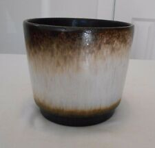 Vintage Scheurich Keramik West German Art Pottery Pot Planter Brown Fat Lava Era