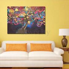 """Psychedelic Trippy Tree Art Silk Cloth Poster Design Home Wall Decor 20 x 13"""""""
