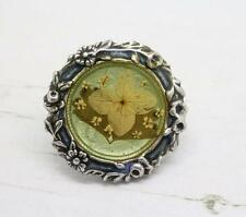 Beautiful Confirmed Pierre Bex French Vintage Ornate Dried Flowers Brooch Pin