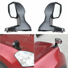2 x Black Universal Car Blind Spot Square Side Rear View Flat Mirror Wide Angle