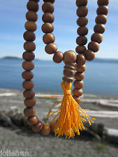 TIBETAN BUDDHIST GENUINE NATURALLY FRAGRANT 8MM SANDALWOOD MALA NEPAL