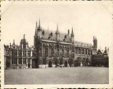 1939 photo card purchased while visiting bruges ! palace of justice & town hall