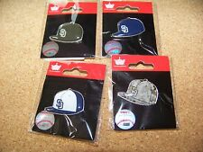 4 - SD San Diego Padres logo baseball cap pins hat pin NEW for 2015