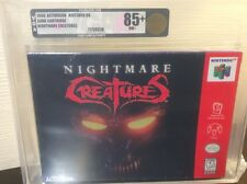 Nightmare Creatures  (Nintendo 64, 1998) VGA 85+ New Sealed Graded Gold