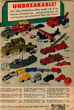 1958 ADVERT Toy US Army Truck Navy Cargo Plane Troop Transport Mobil Tow Wrecker