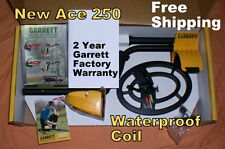 """NEW Garrett Ace 250 Metal Detector  with 6.5x9"""" Waterproof Coil * Free Shipping"""