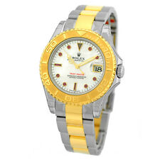 ROLEX Stainless 18K Yellow Gold 35m Rolex Yachtmaster Mother Pearl 168623 UNWORN