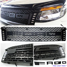 12-14 Front grille DRL LED PX Wildtrak XL XLT Full ABS Pickup Ute Matte Black