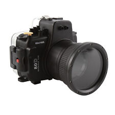 60m Waterproof Underwater Camera Housing Case For Canon EOS 80D & 18-135mm Lens