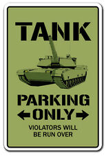 TANK Parking Sign novelty gift funny apc military armour army retire armoured