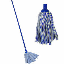 1.2M LONG HANDLE FLOOR CLOTH MOP SWEEPER CLEANING WOOD TILES LAMINATE WET DRY