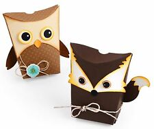 Sizzix Thinlits Owl & Fox Box 6 pk set #661133 Retail $19.99 designer Jen Long