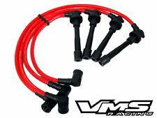 VMS RACING 96-00 HONDA CIVIC SOHC 10.2MM 10.2 MM SPARK PLUG WIRES SET RED