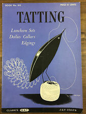 Vintage 1942 Tatting Instruction Pattern Book No. 183 Spool Cotton Co. Original
