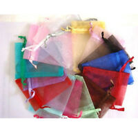 25/50/100 Organza Bags Jewelry Pouches Wedding Favor Christmas Gift packing Bags