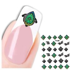 3D Nagel Sticker Medaillon Nail Art Pfau New Design Kult Aufkleber Water Decall