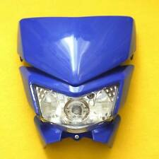 Yamaha WR YZ TTR 450 250 Supermoto MotoCross Blue Headlight Head Lamp Fairing