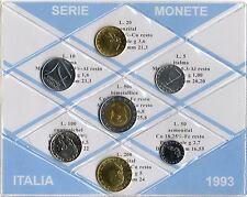 REPUBBLICA ITALIANA - SERIE MONETE ITALIA DIVISIONALE 1993 _ FDC