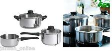 IKEA - ANNONS 5 PIECE COOKWARE SET PAN WITH LID- STAINLESS STEEL - FREE SHIPPING