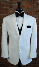 MENS 48 S  WHITE DINNER JACKET TUXEDO  LASTRADA by AFTER SIX