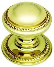 Large Solid Polished Brass Georgian Centre Pull Door Knob / Handle (PB302)