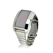 Stainless Steel LED Watch - Personalized Message Display