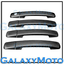 Black Chrome 4 Door Handle Without PSG Keyhole Cover for 04-13 Nissan Frontier