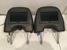 05 06 07 Volvo XC90 Black Factory Install TV Video Display Headrest Pair OEM