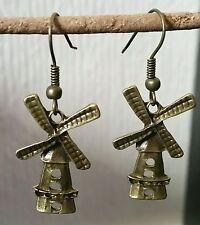 Windmill Bronze Earrings/ Vintage/Retro/Steam punk