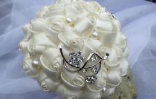 Brautstrauß Hochzeit Heirat Blüten Erinnerung Strass Perlen Tüll künstlich Braut