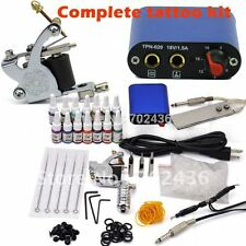 Beginner Rotary Tattoo Kit Tatoo Machine 14 Color Inks professional Tattoo gun