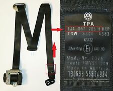 VW Golf Mk4 1.6 GTI TDI SDI 5 Door Black N/S/F Seat Belt 1J4 857 705 H