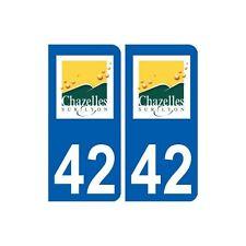 42 Chazelles-sur-Lyon logo ville autocollant plaque stickers arrondis