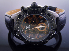 Men's Aqua Master 45MM 24 Big Diamonds Black Case