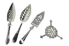 SET OF 4 ABSINTHE SPOONS (#6, #14-A, #17, #37) & 10 SUGAR CUBES -FREE SHIPPING!
